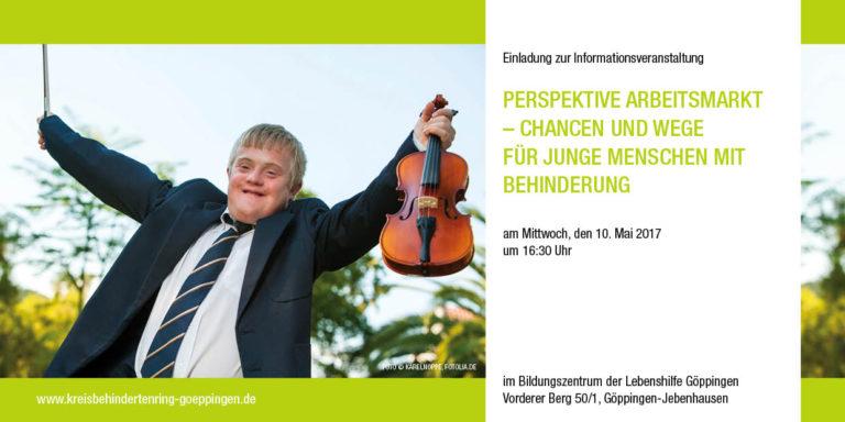 """EINLADUNG """"Perspektive Arbeitsmarkt"""" am 10. Mai"""